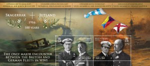 The Jutland Centenary Commemorative stamps. Available from the Isle of Man Post Office.