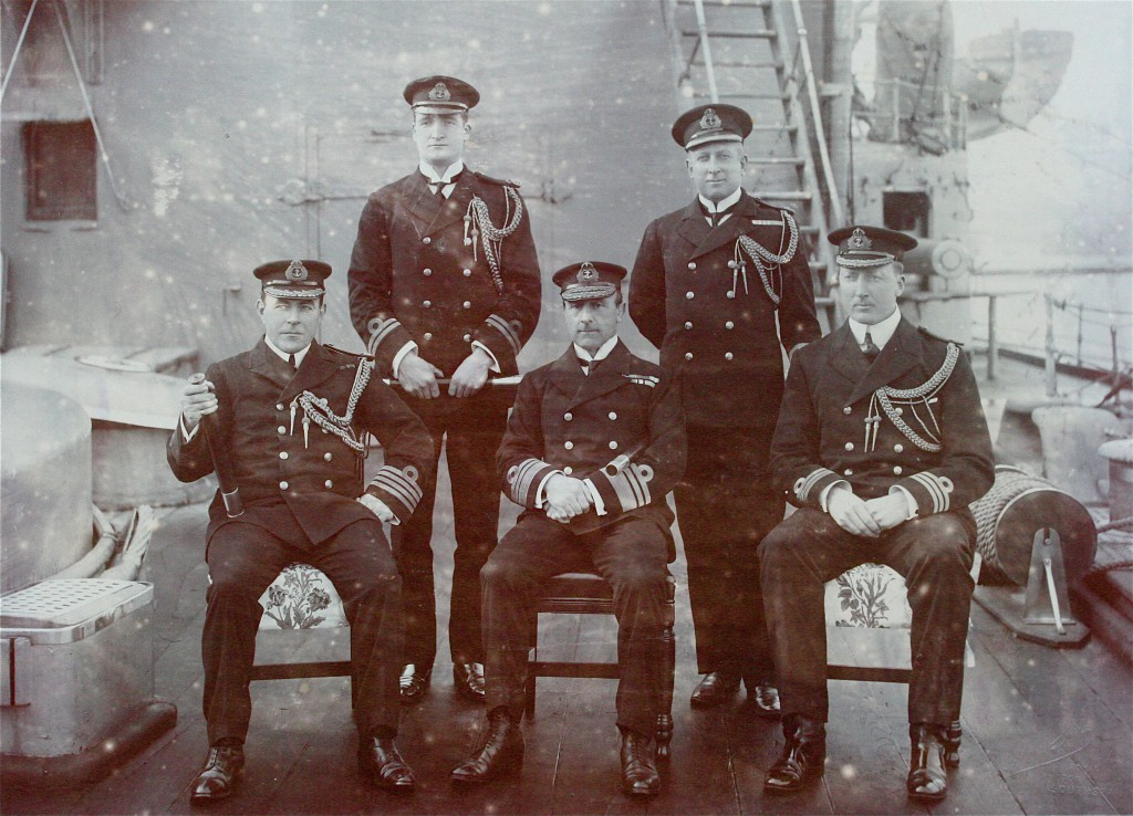 Captain Hopwood, Lieut.Buxton. John Rushworth Jellicoe, Mr Share, Commander Dreyer