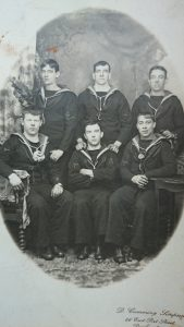 Samuel Roberts, HMS Blanche (first row in the center)