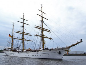 The German navy training ship, the Gorch Fock.