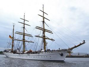 The German navy training ship, the Gorch Fock.